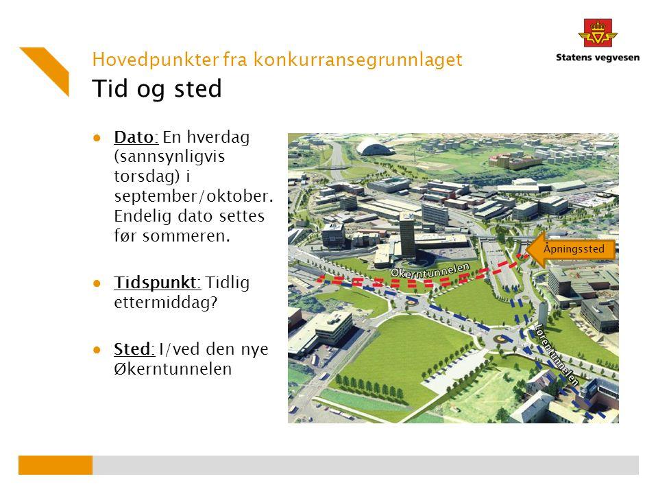 Lokaler ● I/ved Økerntunnelens nordgående løp ● 320 meter lang betongtunnel på Østre Aker vei Hovedpunkter fra konkurransegrunnlaget