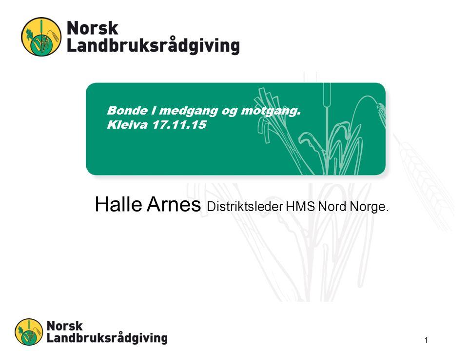 Bonde i medgang og motgang. Kleiva 17.11.15 Halle Arnes Distriktsleder HMS Nord Norge. 1