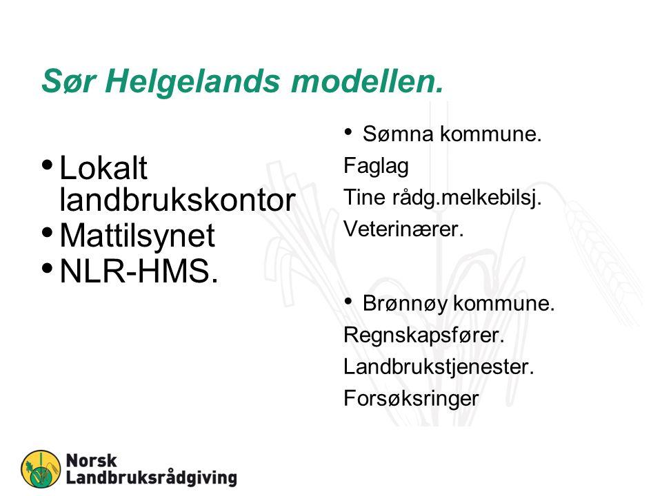 Sør Helgelands modellen. Lokalt landbrukskontor Mattilsynet NLR-HMS.
