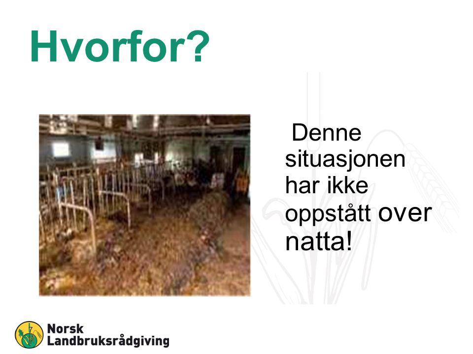Hvorfor? Noen vet, men ingen gjør Alle i landbruksnæringen ønsker å bidra!!