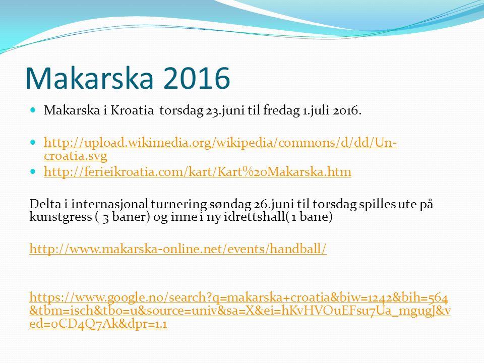 Makarska 2016 Makarska i Kroatia torsdag 23.juni til fredag 1.juli 2016. http://upload.wikimedia.org/wikipedia/commons/d/dd/Un- croatia.svg http://upl