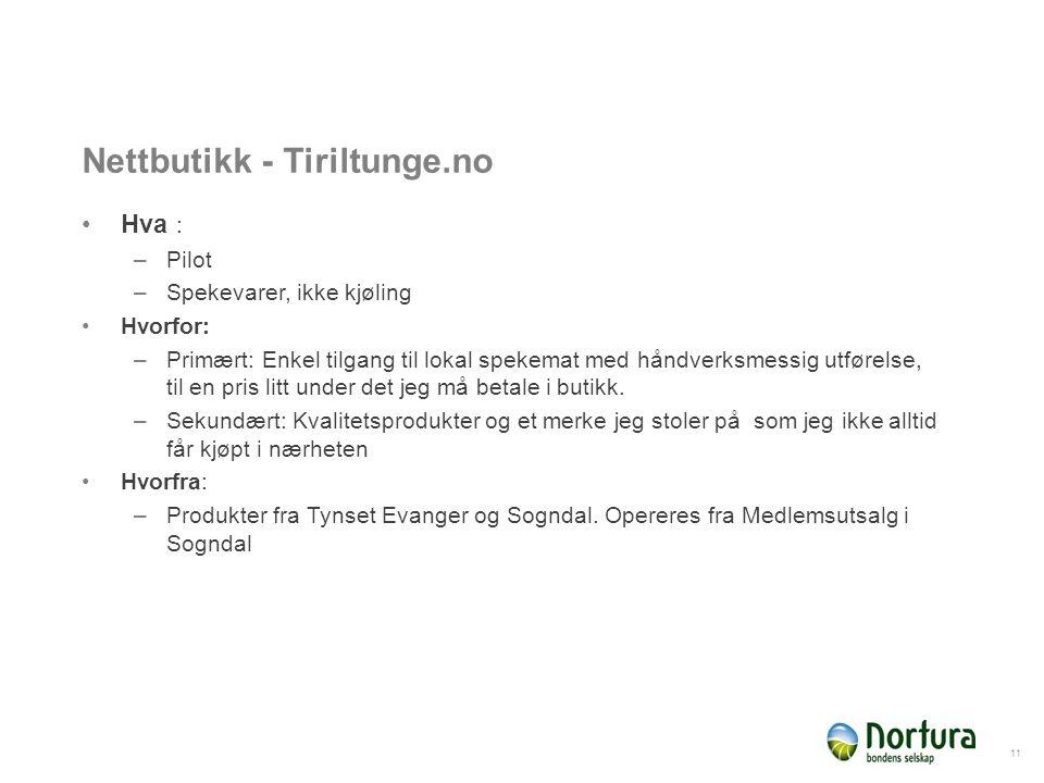 Nettbutikk - Tiriltunga Hvordan distribuere: –Med Bring.