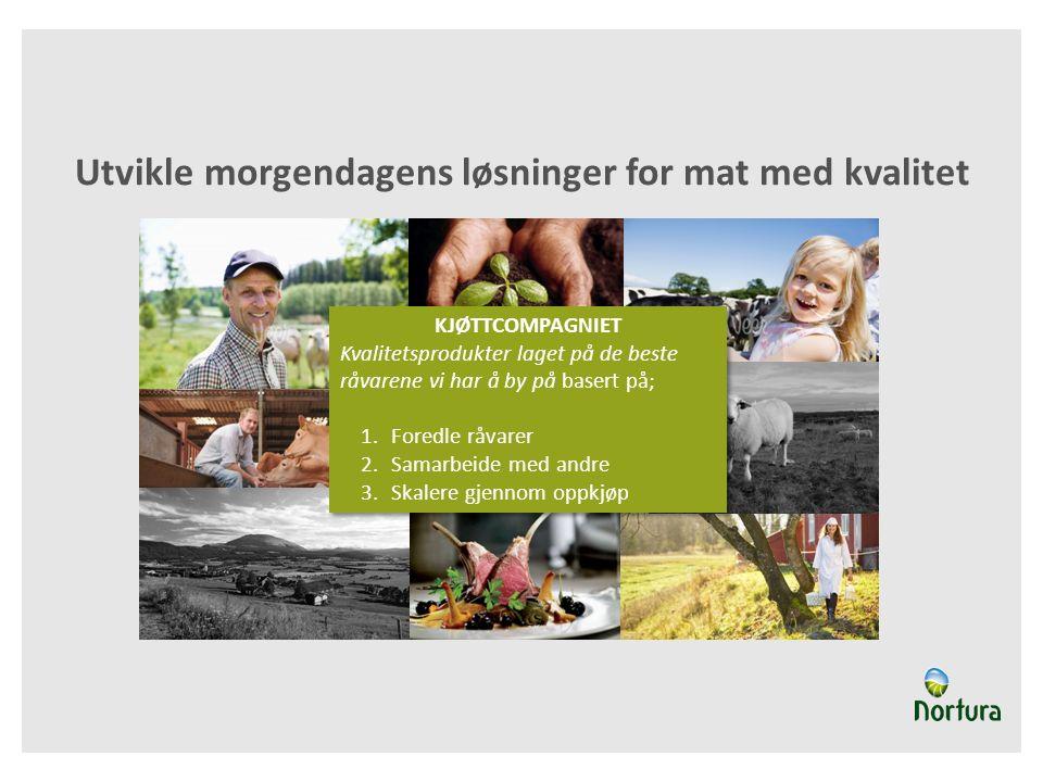 «Kjøttcompagniet» sin oppgave og mål Skape nye konsepter basert på «verdikjedeskatter» Bli «bondehjelper» Organisere leverandører og konsepter i en attraktiv modell for kjedene, grossistene, spesialforretninger og mulige nye samarbeidspartnere