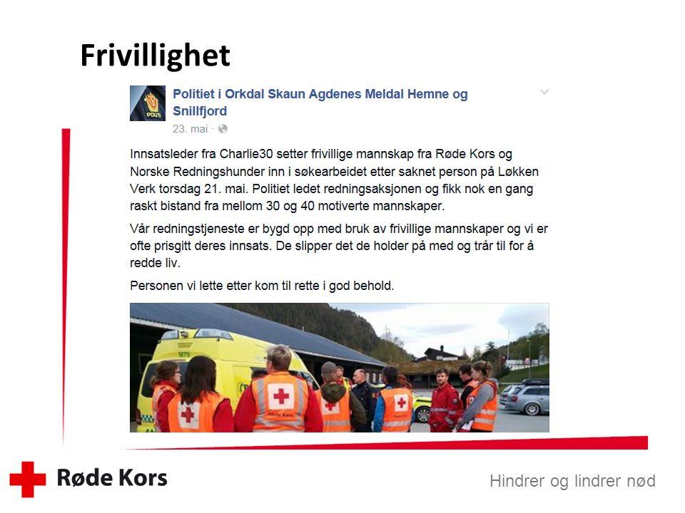 Hindrer og lindrer nød Sør-Trøndelag Røde Kors Hjelpekorps er Norges beste hjelpere