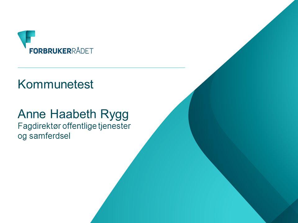Kommunetest Anne Haabeth Rygg Fagdirektør offentlige tjenester og samferdsel