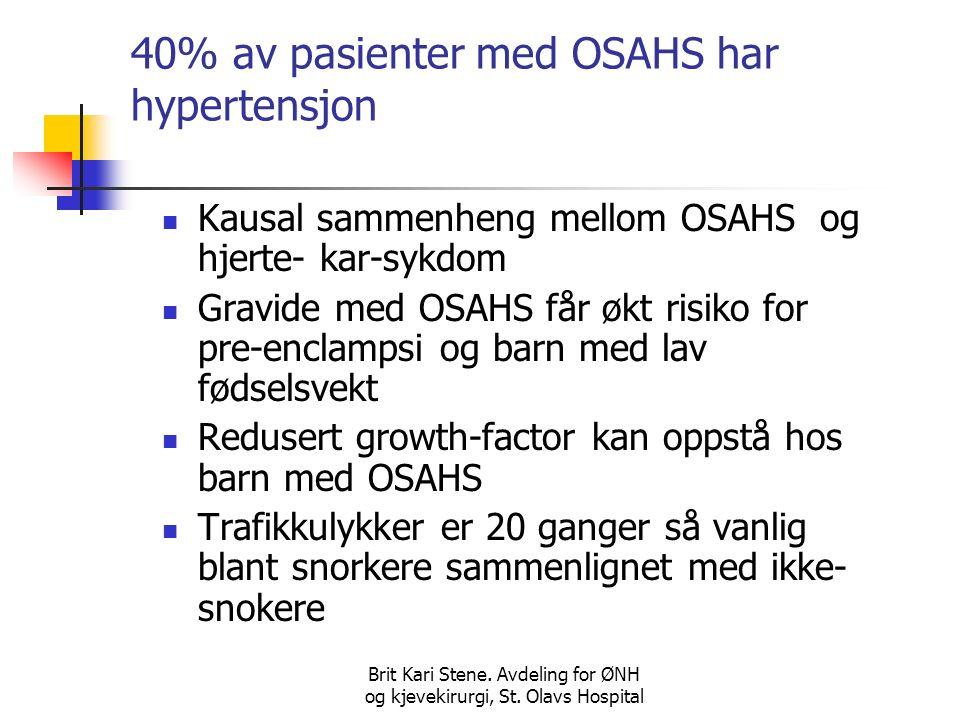 Brit Kari Stene.Avdeling for ØNH og kjevekirurgi, St.