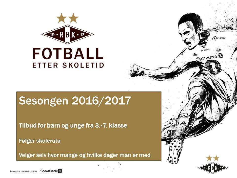 Sesongen 2016/2017 Tilbud for barn og unge fra 3.-7.