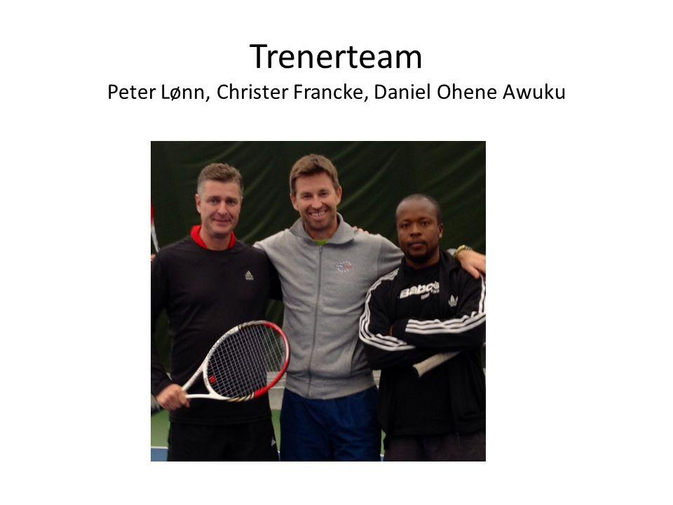 Trenerteam Peter Lønn, Christer Francke, Daniel Ohene Awuku