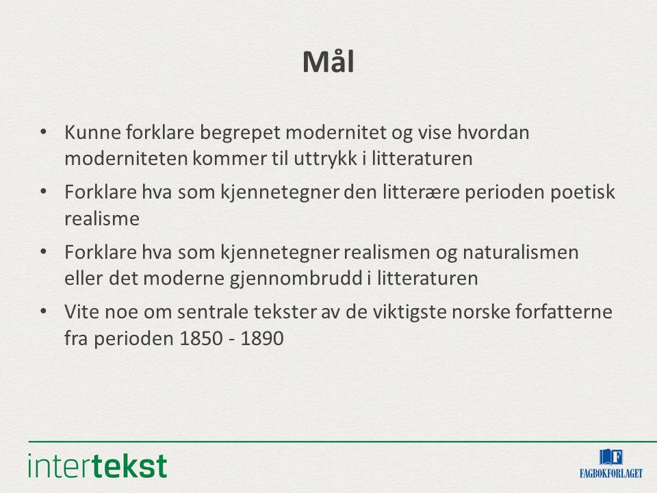 Førlesning Hva vet du om det norske samfunnet i andre halvdel av 1800- tallet.