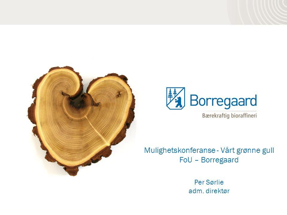 Mulighetskonferanse - Vårt grønne gull FoU – Borregaard Per Sørlie adm. direktør