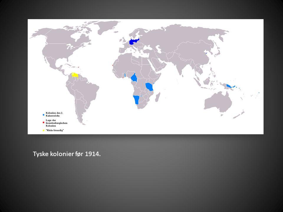 Tyske kolonier før 1914.