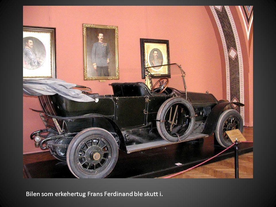 Bilen som erkehertug Frans Ferdinand ble skutt i.