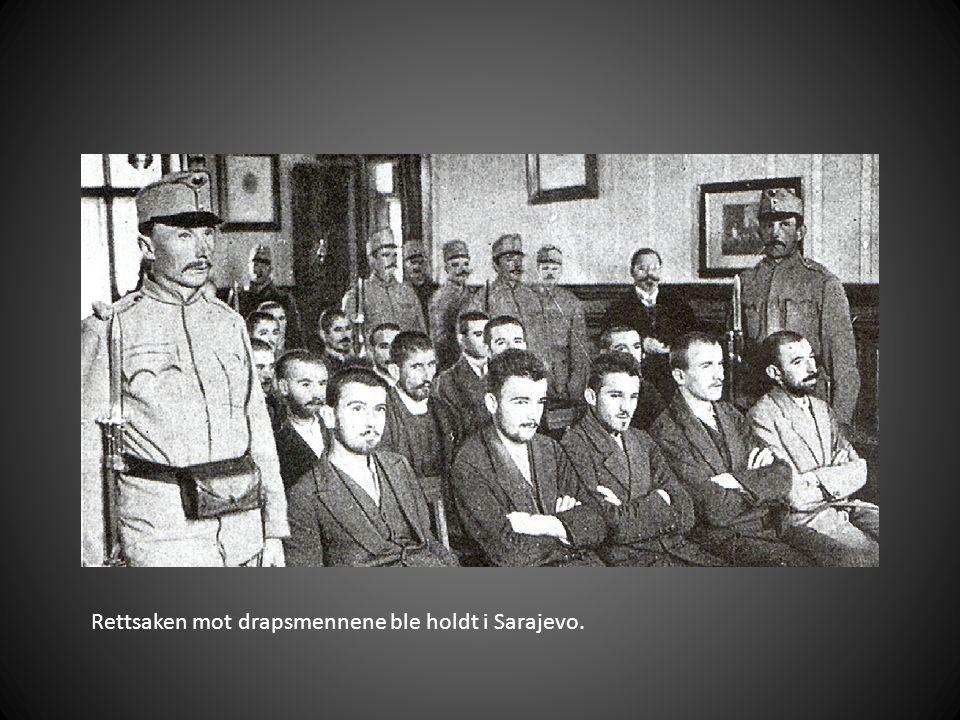 Rettsaken mot drapsmennene ble holdt i Sarajevo.