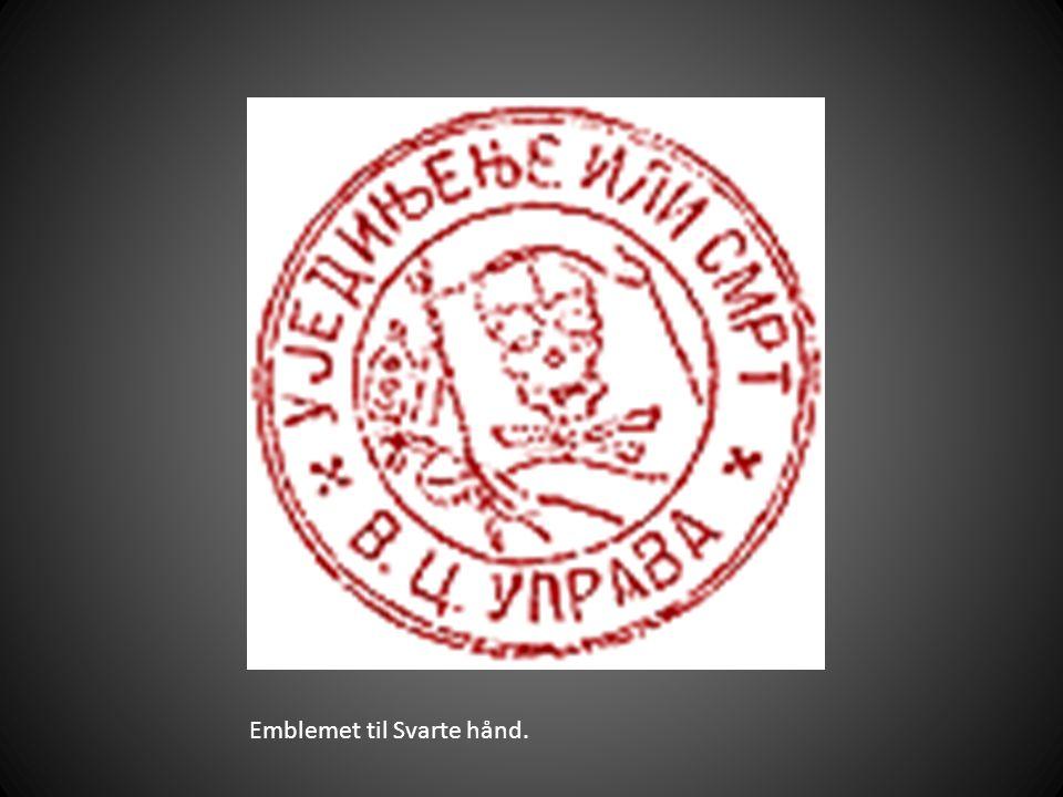 Emblemet til Svarte hånd.