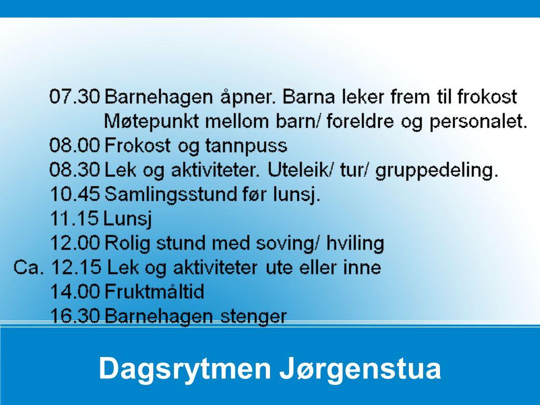 Dagsrytmen Jørgenstua
