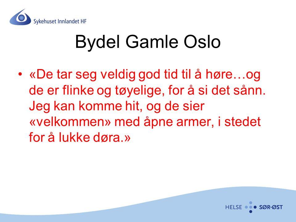 Bydel Gamle Oslo «De tar seg veldig god tid til å høre…og de er flinke og tøyelige, for å si det sånn.