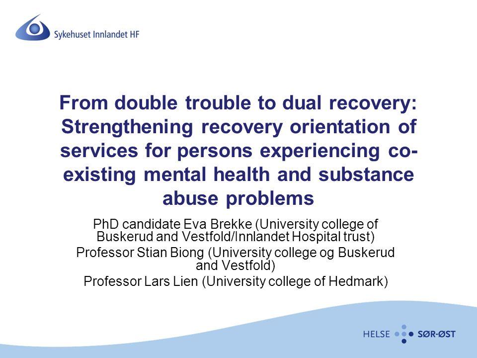 KOR og Recovery Hvordan snakker vi med og om folk.