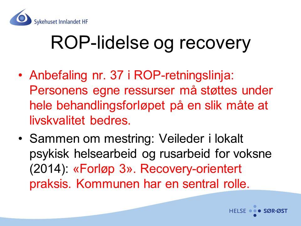 ROP-lidelse og recovery Anbefaling nr.