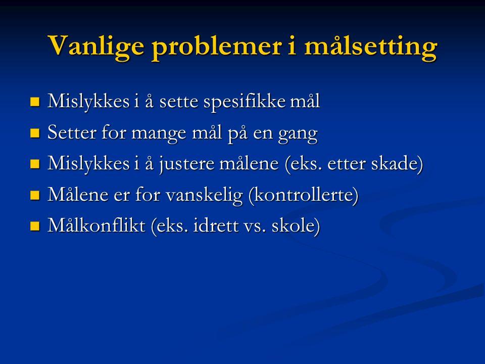 Bygge den indre motivasjon (Pensgård, 2001). Hva er trenerens beste strategier.