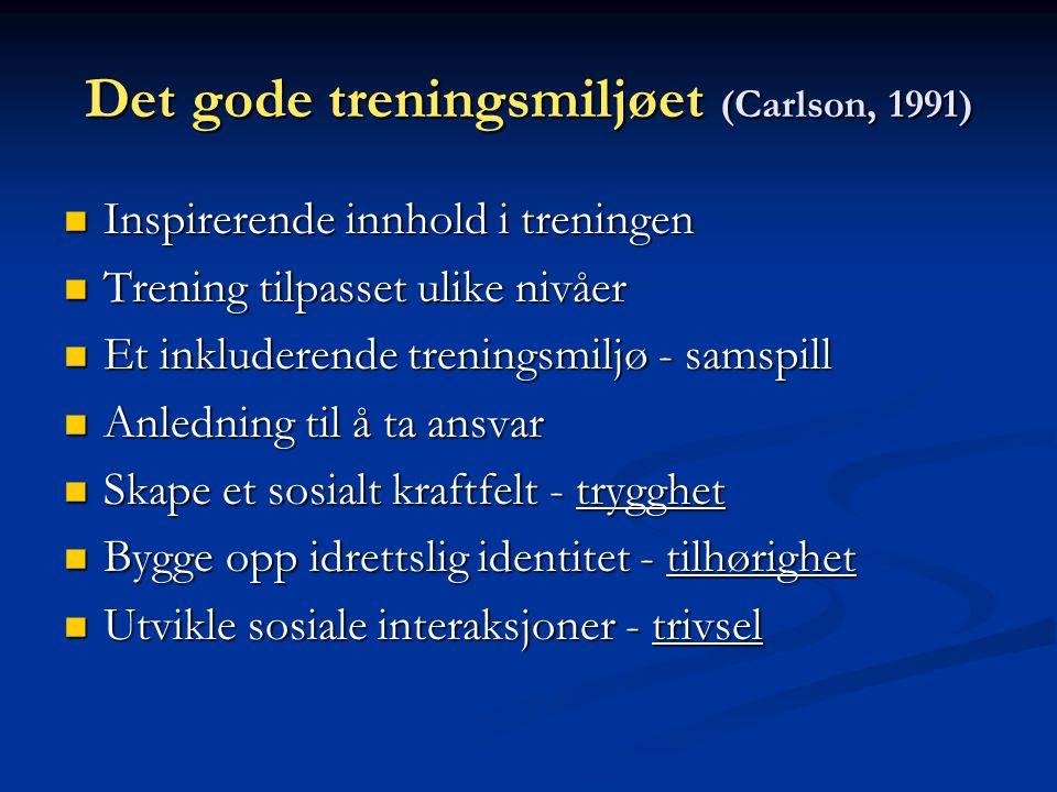 (8)--MILJØSKAPER Inkluderende sosialt miljøInkluderende sosialt miljø -bedre trivsel -økt selvtillit -større interesse for å lære Pensgård & Sørensen 1988; Kolnes 1992; Fasting 1996; Skaalvik & Skaalvik 1996