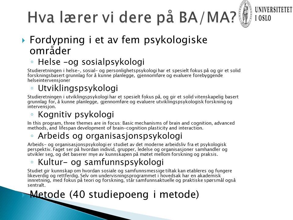 6.semester Studieløpsemne, bacheloroppgave innen fordypningFritt emne 5.