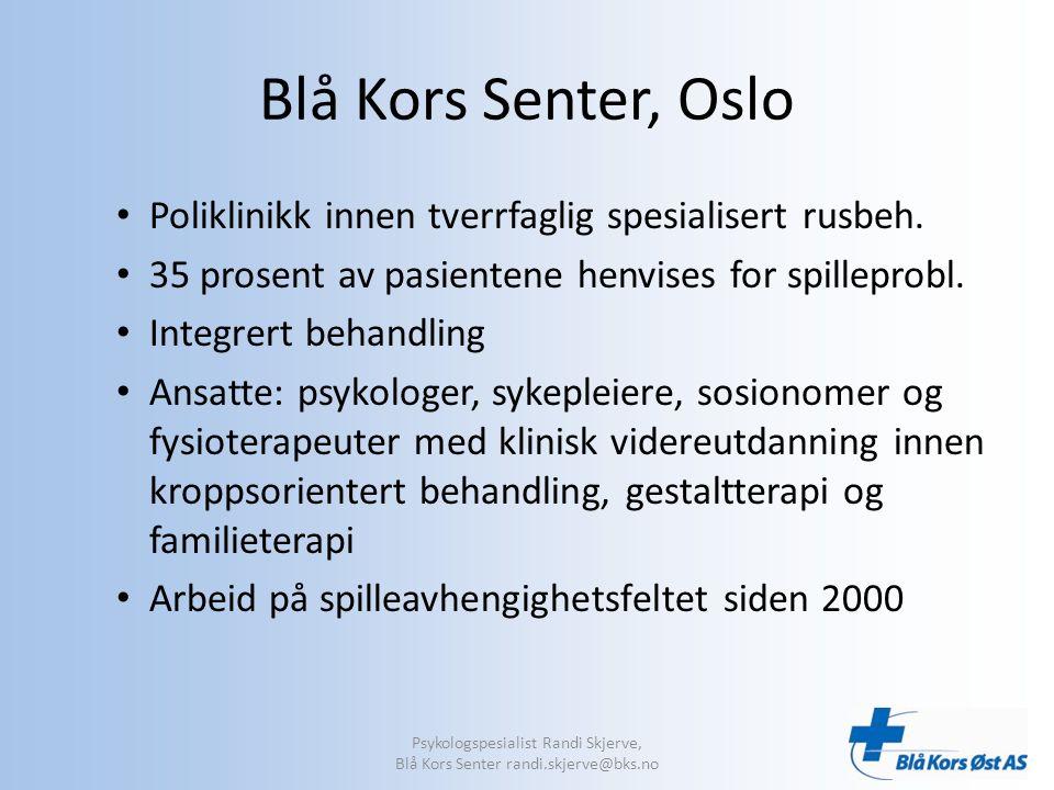 Blå Kors Senter, Oslo Poliklinikk innen tverrfaglig spesialisert rusbeh.