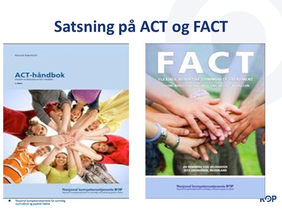 Anbefalinger  ACT-modellen er et godt tilbud og bør videreføres for personer med alvorlige psykisk lidelser, med eller uten rusmisbruk, som ikke har klart å nyttiggjøre seg ordinære tjenester  ACT-modellen bør etableres i andre kommuner/bydeler i Norge som har stort nok opptaksområde  I kommuner med opptaksområde mindre enn 50 000 kan etablering av ACT-team skje gjennom interkommunalt samarbeid for den definerte målgruppa