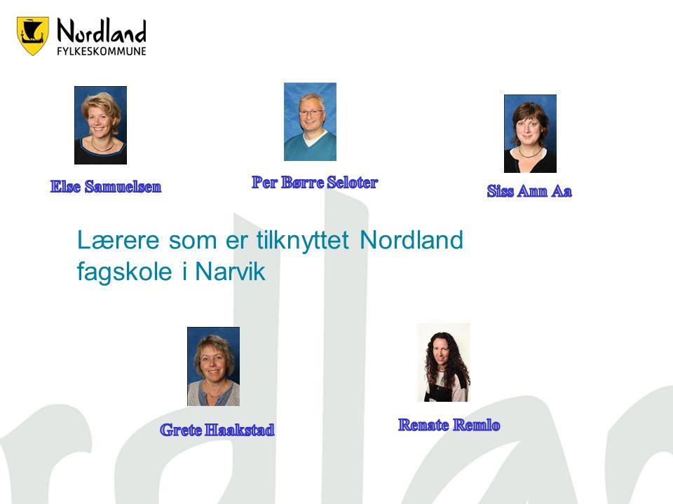 Lærere som er tilknyttet Nordland fagskole i Narvik