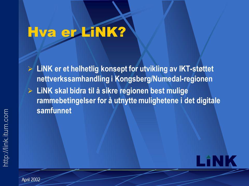 http://link.itum.com LINK April 2002 Hva er LiNK.