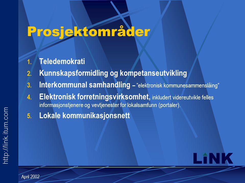 http://link.itum.com LINK April 2002 Prosjektområder 1.
