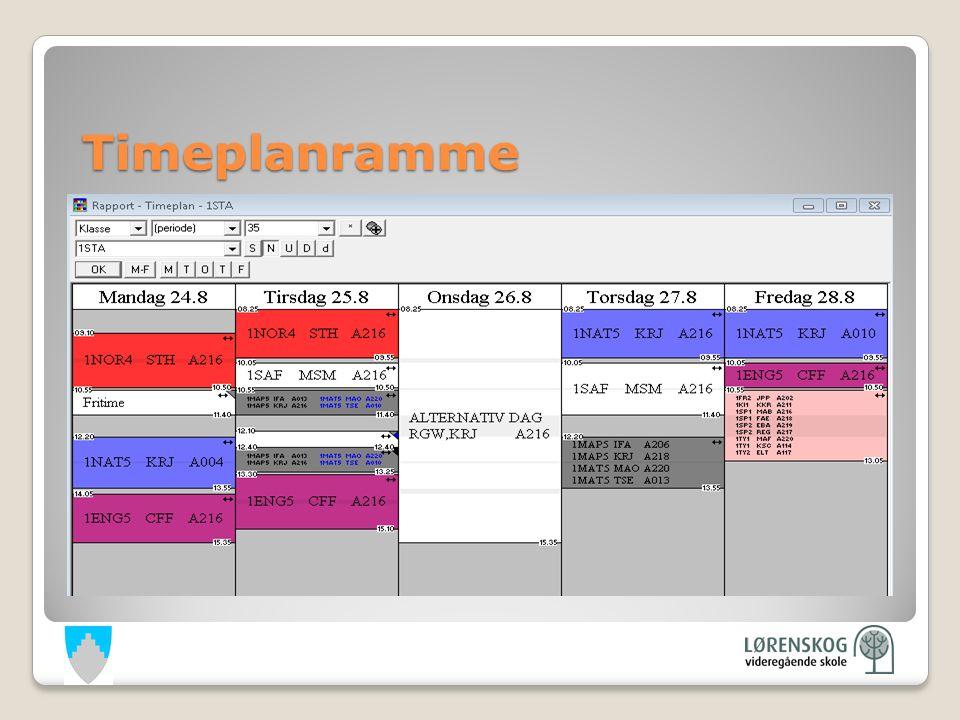 Timeplanramme