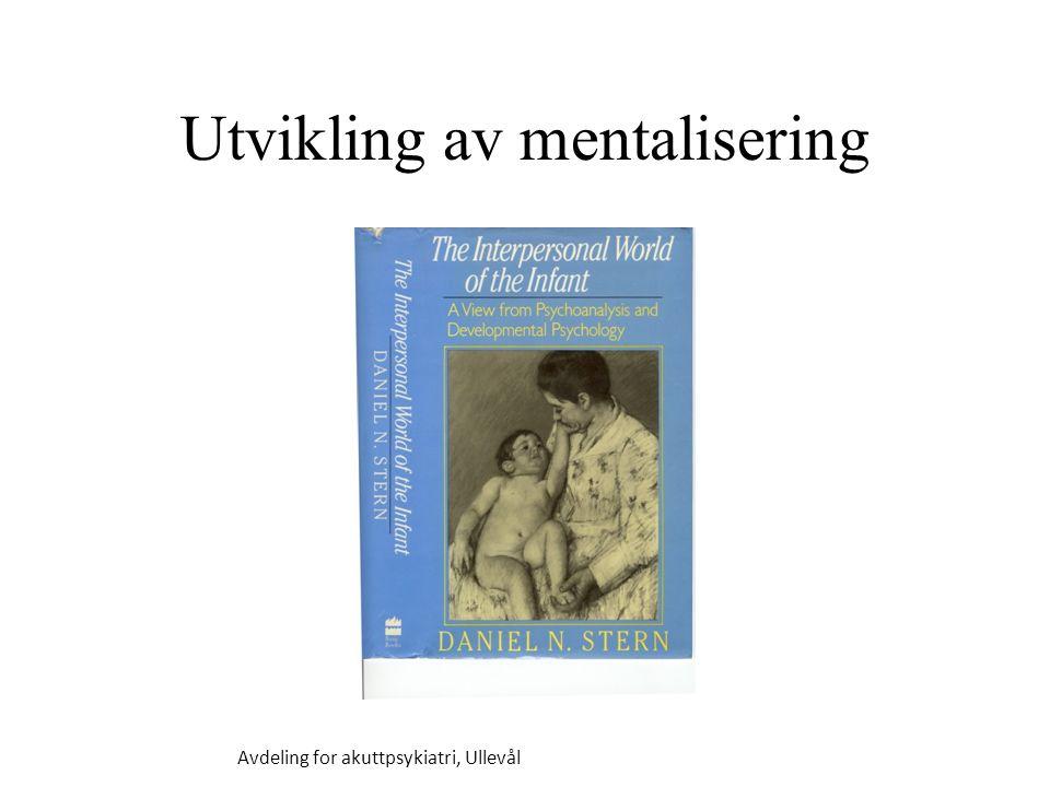 Utvikling av mentalisering
