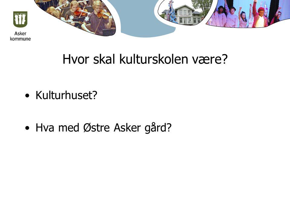 Hvor skal kulturskolen være? Kulturhuset? Hva med Østre Asker gård?