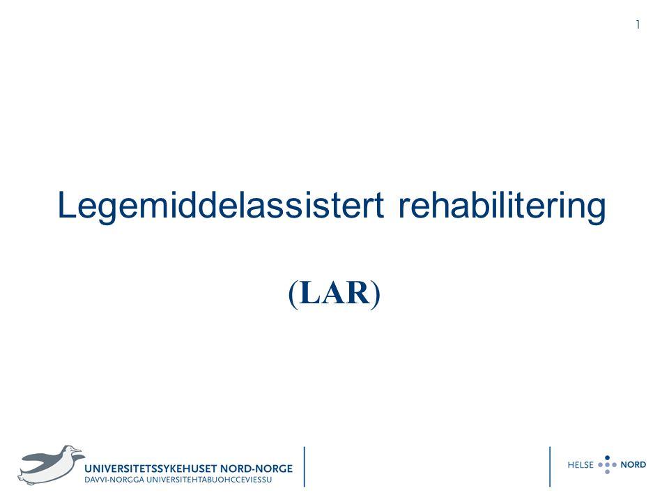 2 Disposisjon Organisering av rusbehandling ved UNN-HF Innsøkning av pasient til LAR Valg av substitusjonspreparat Ventemedisin før oppstart i LAR Forskriving av A- og B-preparater Smertebehandling ved substitusjon Urinprøvekontroller