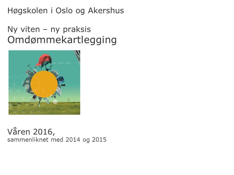 Høgskolen i Oslo og Akershus Ny viten – ny praksis Omdømmekartlegging Våren 2016, sammenliknet med 2014 og 2015