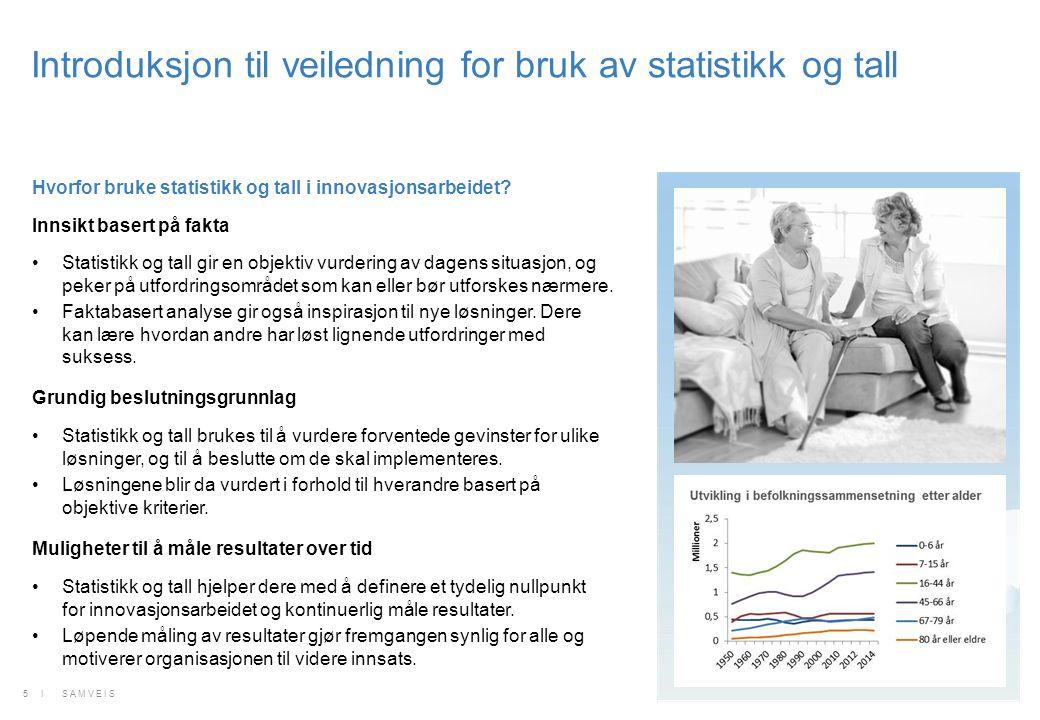 Statistikk og tall i ulike faser av innovasjonsarbeidet