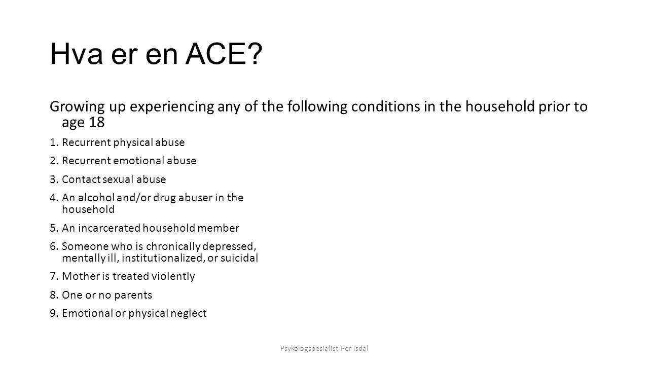 Hva er en ACE.