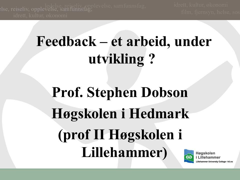 Læringsutbyttet (student achievement outcomes) Prof.