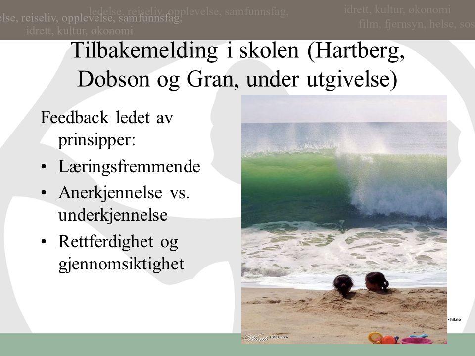 Tilbakemelding Norske elevundersøkelse Hattie: Hvor er målet, hvor langt har jeg kommet, hvordan kan jeg gå videre Hattie…Fra elev til læreren (NB: me
