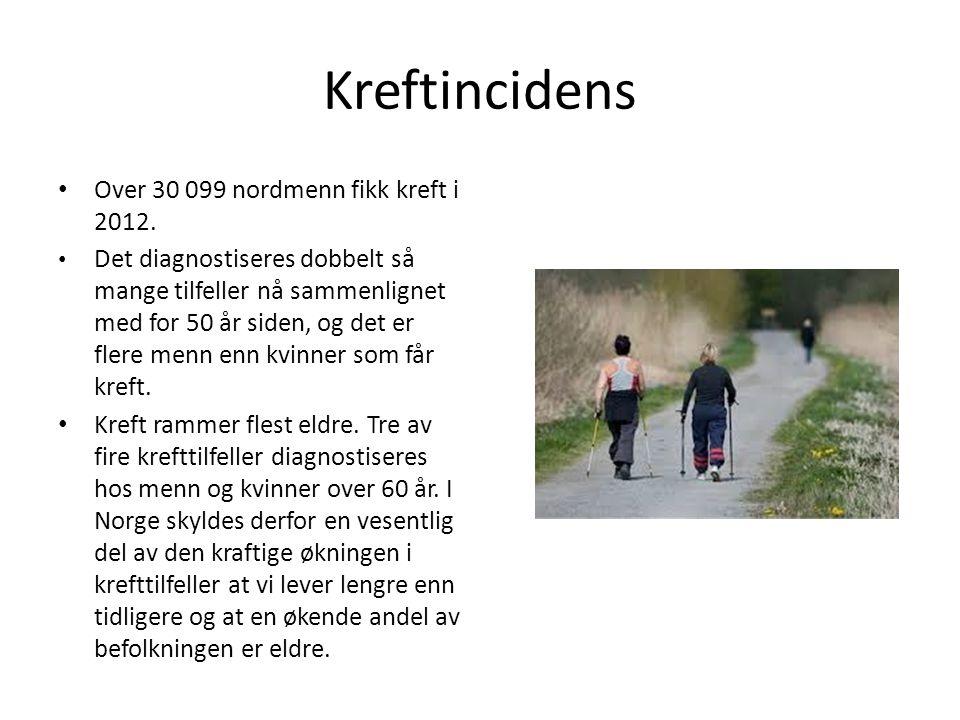 Over 30 099 nordmenn fikk kreft i 2012.