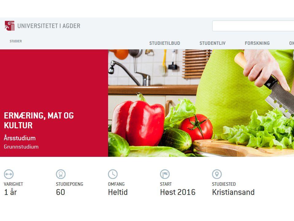 Semester10 sp 1.Grunnleggende ernæring Praktisk matlagingMatvarekunnskap 2.