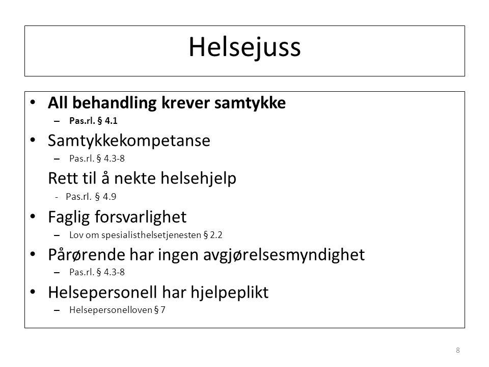 Helsejuss All behandling krever samtykke – Pas.rl.