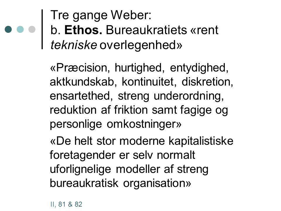 Tre gange Weber: b. Ethos.