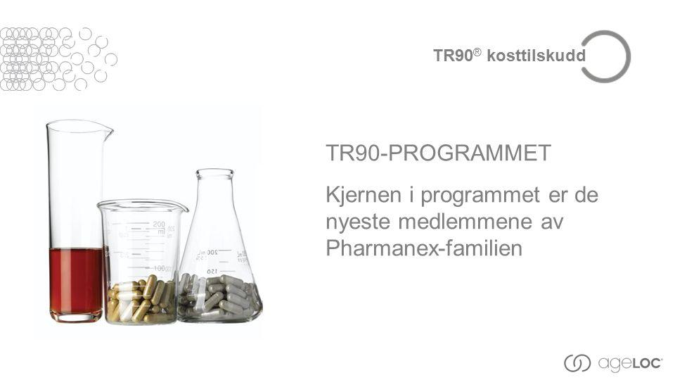 TR90-PROGRAMMET Kjernen i programmet er de nyeste medlemmene av Pharmanex-familien TR90 ® kosttilskudd