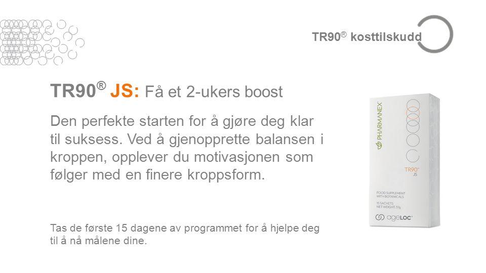 TR90 ® JS: Få et 2-ukers boost Den perfekte starten for å gjøre deg klar til suksess.