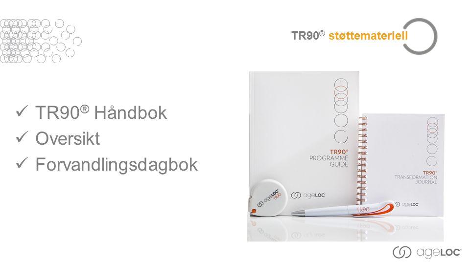 TR90 ® støttemateriell TR90 ® Håndbok Oversikt Forvandlingsdagbok