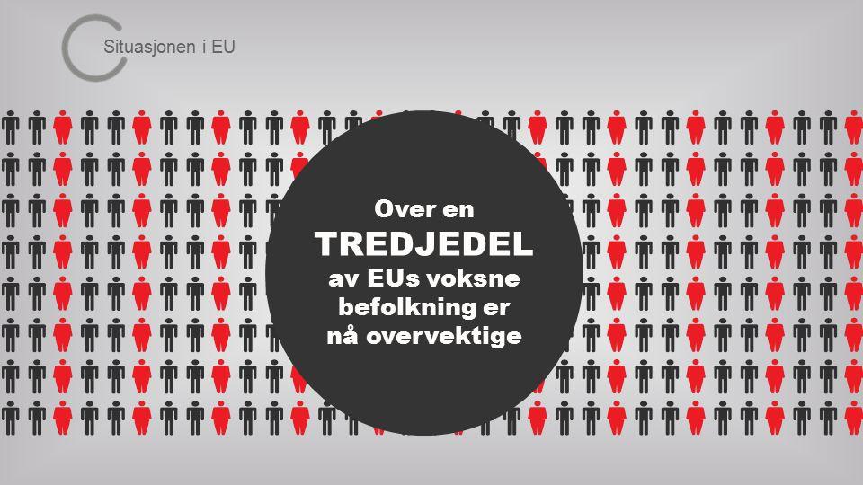 Over en TREDJEDEL av EUs voksne befolkning er nå overvektige Situasjonen i EU