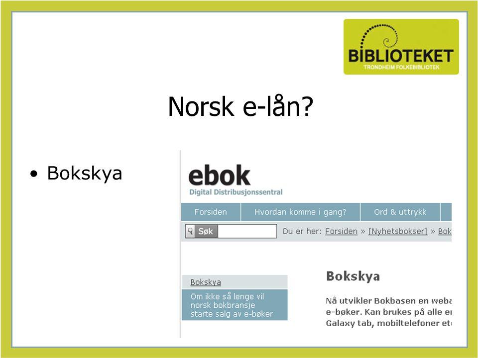 Norsk e-lån Bokskya