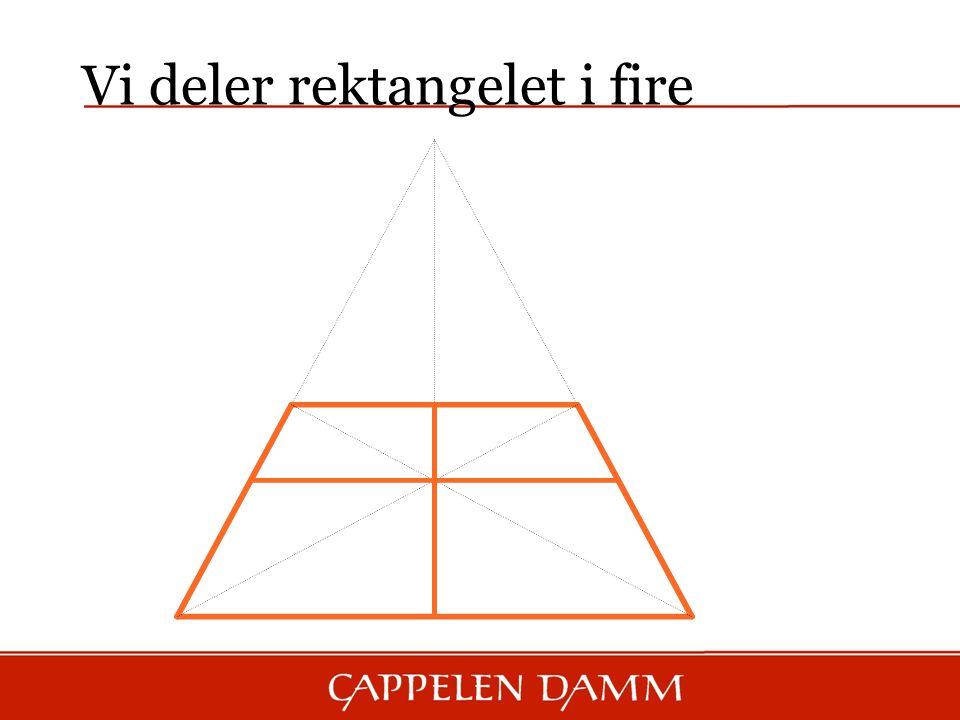 Vi deler rektangelet i fire