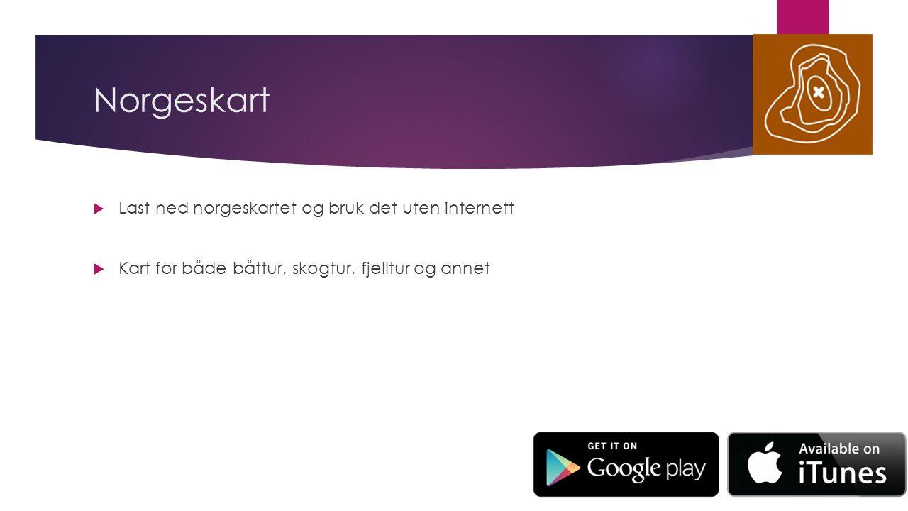 Norgeskart  Last ned norgeskartet og bruk det uten internett  Kart for både båttur, skogtur, fjelltur og annet